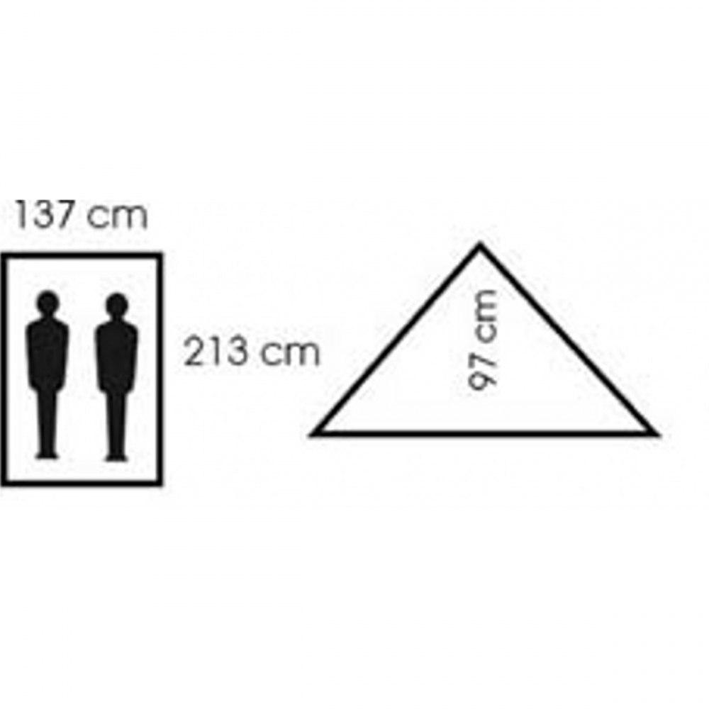Zelt-Minipack-2-Personen-213-x-137-x-97-cm-Zweimannzelt-Moskitonetz-Camping-NEU Indexbild 7