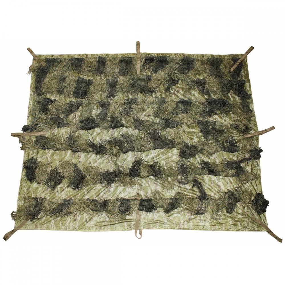 MFH Tarnnetz 3 x 2 m oliv mit PVC-Tragebeutel Sichtschutz Tarnung Tarnplane NEU