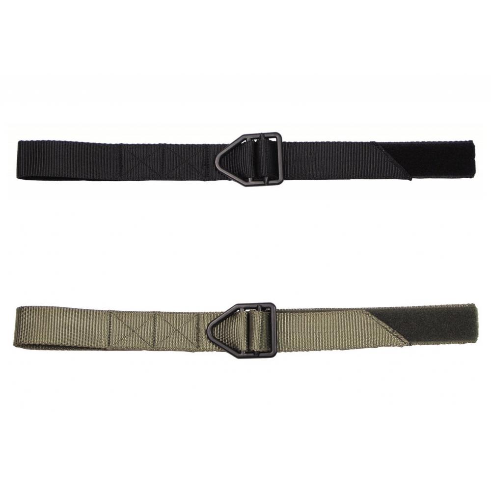 US Gürtel Stealth Plastikschloß 4 cm breit Stoffgürtel Army Koppel Schwarz Oliv