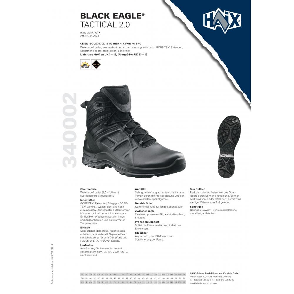 Haix Black Eagle Tactical 2.0 mid Polizei Outdoor Militär Einsatzstiefel Wandern