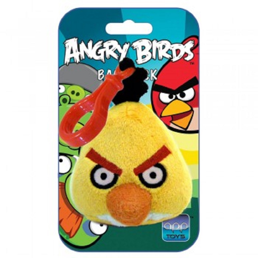 angry birds backpack clip pl sch rucksack anh nger rot blau schwarz schwein ebay. Black Bedroom Furniture Sets. Home Design Ideas